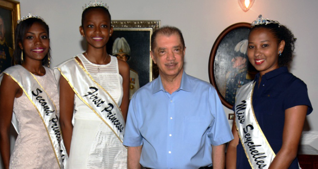The princesses with President Michel at State House