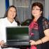 Ambassador Meridas presents the equipment to Minister Mondon