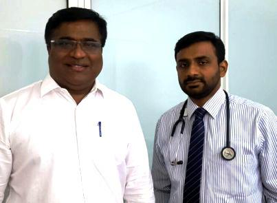 Dr Binu Pillai with Dr Pillay
