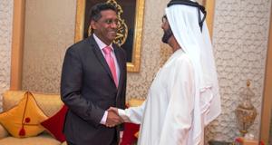 President danny faure Dubai 2017